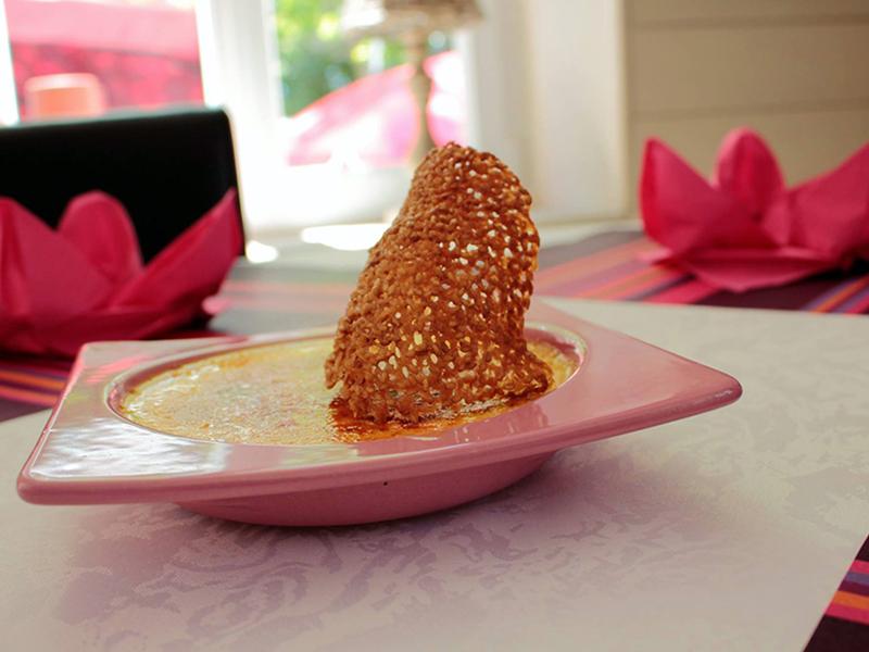 Crème brûlée et sa tuile
